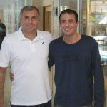 Coach Hugo con Zeljko Obradovic