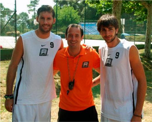 Coach Hugo con Rudy y Ricky